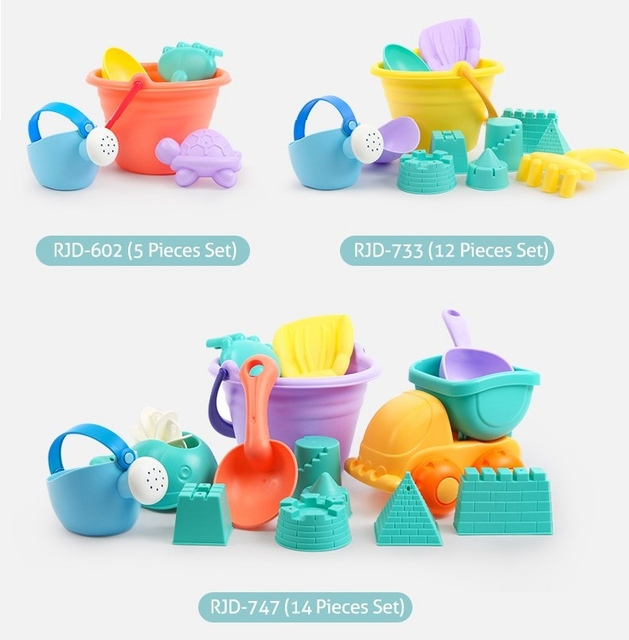 Beiens 5 14pcs Beach Sand Toys Set Portable Animals Castle Sand Clay Mold Digging Shovel Tools