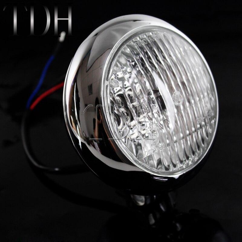 cheapest 2pcs Motorcycles Headlight 3-Modes 6500k White Super Bright  Working Spot Light Headlight Fog Spot Light Auxiliary lamps Switch
