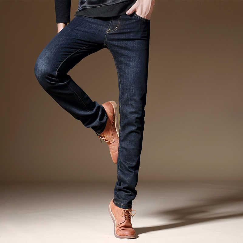 Jantour 2017 Nieuwe Luxe Mannen Merk Zwarte Jeans Mannen Katoen Skinny Slim Solid Casual Stretch Denim Jean Heren Lange broek Mannelijke