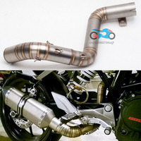 Motorcycle Exhaust Link Pipe Mid Pipe Stainless Steel Fit For 51mm Exhaust Convertor Adapter KTM 200
