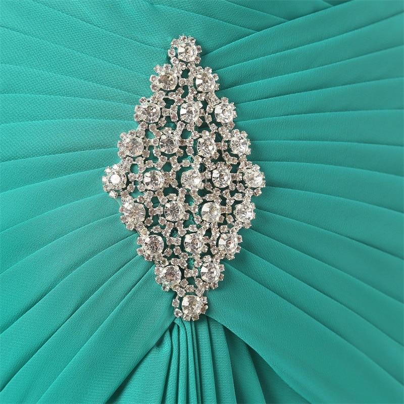 CEEWHY Robe de Soirée Sirène Mousseline Turquoise Robe de Soirée - Habillez-vous pour des occasions spéciales - Photo 3