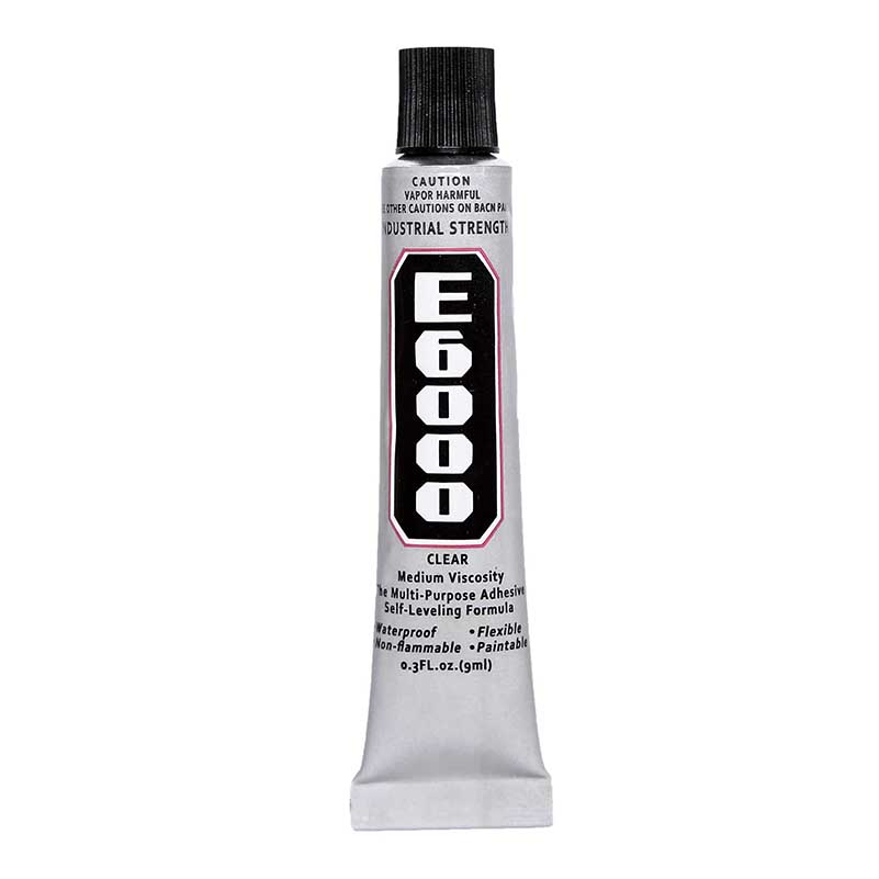 3Pcs 9ML Super E6000 Liquid Glue Touch Screen Cyanoacrylate E-6000 Bts Rubber Leather Wood Adhesive Fabric Epoxy Resin Strong