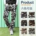 Estilo militar calças de camuflagem carga calças 2016 dos homens de verão de moda multi-bolso macacão calças de camuflagem calças