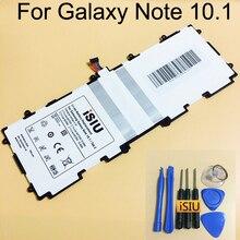 Isiu оригинальный Батарея заменить для Samsung Galaxy Note 10.1 N8000 N8010 Tab 2 10.1 P5100 P5110 P7500 P7510 SP3676B1A (1S2P) инструмент