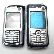 Полный телефон Корпус чехол с английской клавиатура с русским шрифтом для Nokia N70