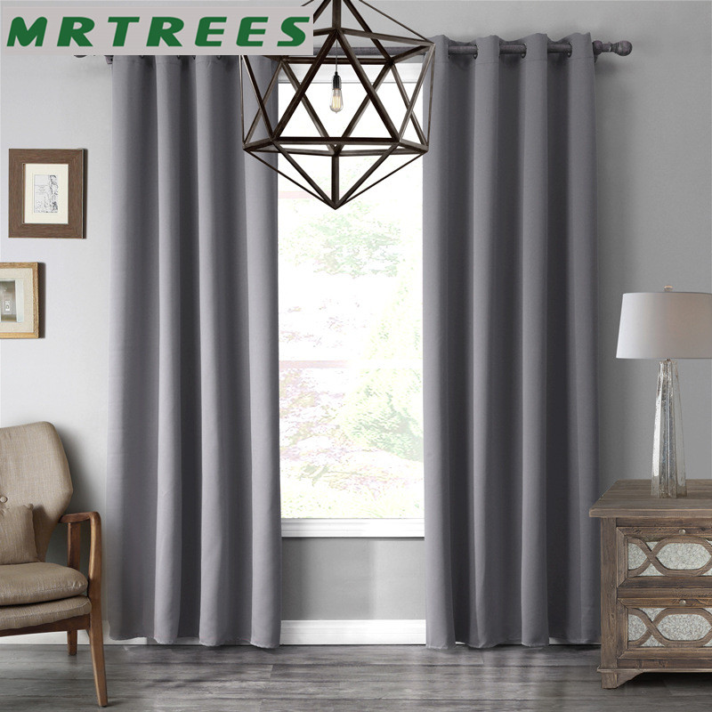 Blackout Curtains for Bedroom Window Treatment Blinds Finished Curtain for Living room Kitchen kid's Modern Cloth Drapes 1panel