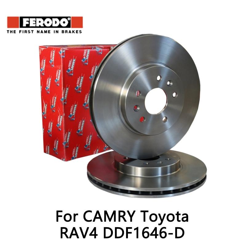 2pcs/lot Ferodo Car Front Brake Disc For CAMRY 2.0 2.4 Toyota RAV4 2.0 2.4 DDF1646-D колодки ferodo 2 4
