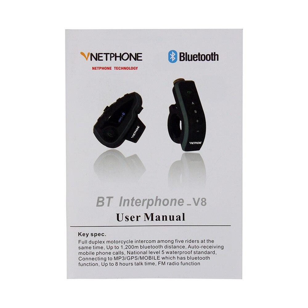7b1791ddd3 Compre VNETPHONE V8 Bt S2 Intercomunicador Bluetooth Moto Casco ...