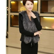80006a261f6e Inverno Mulheres Colete De Pele Casaco Plus Size Jacket Quente Casaco  Feminino Outerwear S-3XL 2017New Moda Preto