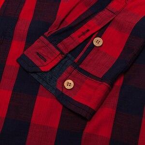 Image 5 - FREDD MARSHALL 2018 New Arrival Mens Plaid Shirt 100% Cotton Long Sleeve Casual Fashion Social Business Style Dress Shirts FM155