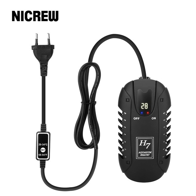 NICREW 25W Submersible Mini Aquarium Heater with Intelligent LED Temperature Display for Fish Tank Temperature Adjustment