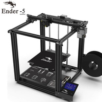 2018 High precision 3D printer Ender 5 large size V1.1.3 mainboard Cmagnetic build plate,Power off resume easy biuld Creality 3D