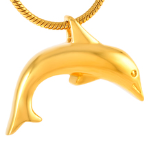 Dolphin Series Stainless Steel Cremation Ashes Urn Memorial Pendant Jewelry Necklace Souvenir is Suitable for Keepsake IJD8400