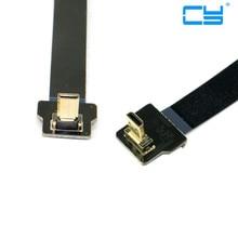 FPV de 20 cm Para Baixo Em Angulo 90 Graus Micro HDMI Macho para cima Cabo Plano FPC Multicopt