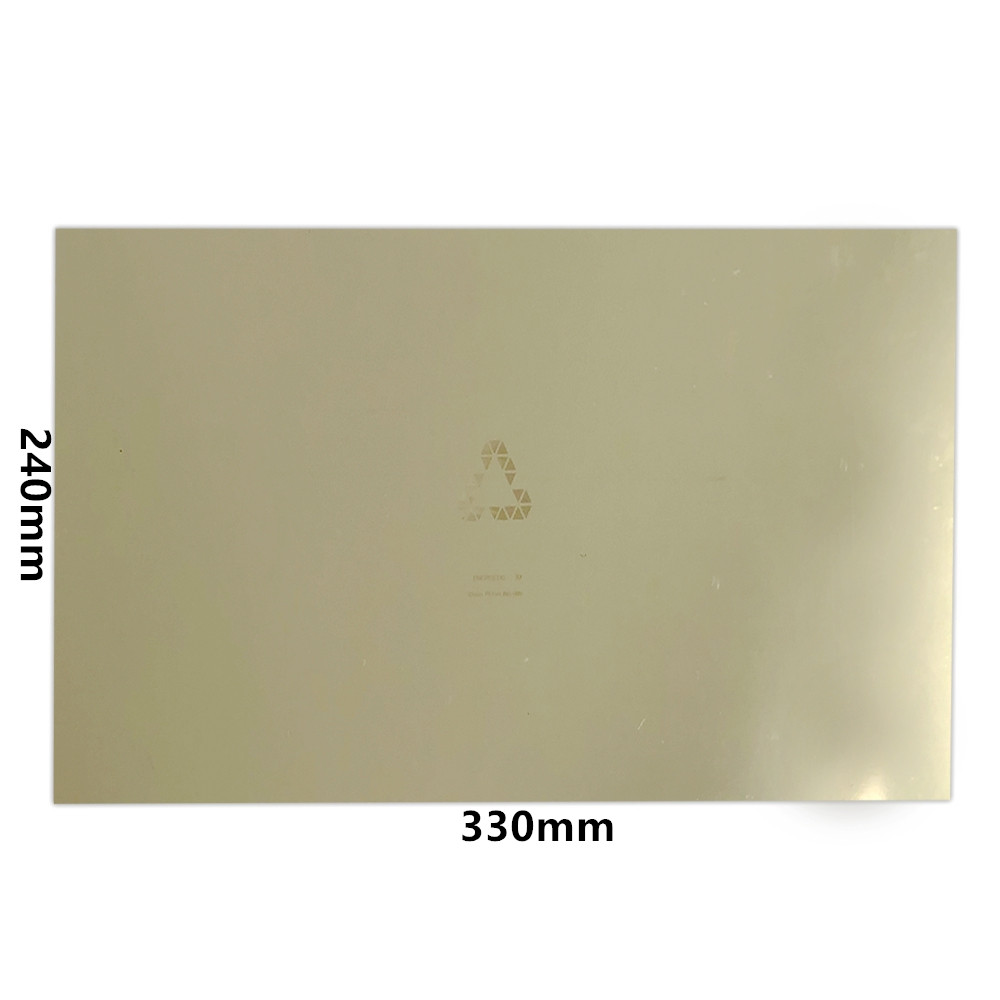 ENERGETIC New Upgrade 240x330mm Flexible Spring Steel Sheet Pre applied PEI Magnetic Base for 3D Printer