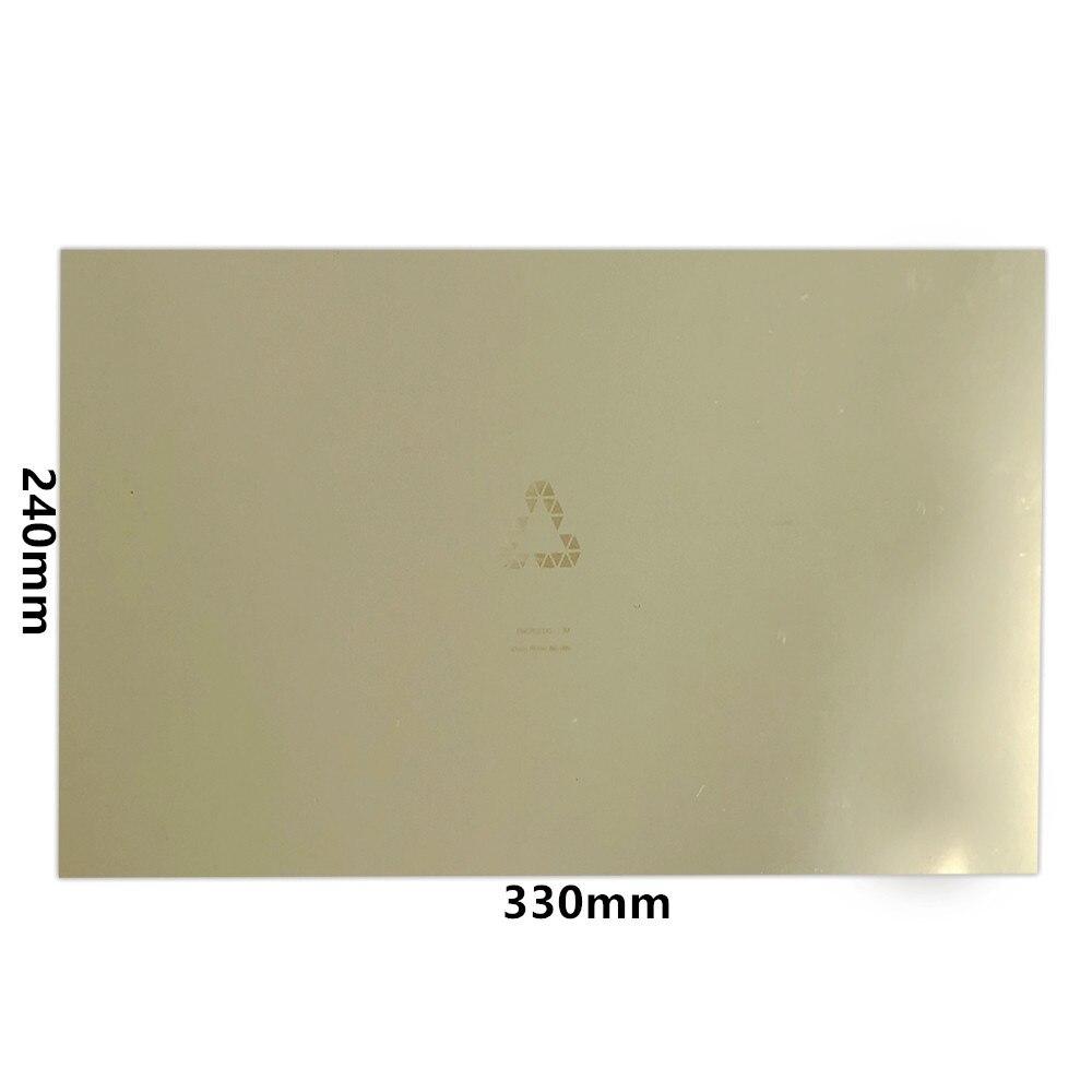 Nouvelle mise à niveau énergétique 240x330mm tôle d'acier à ressort Flexible pré appliquée PEI + Base magnétique pour lit chauffant d'imprimante 3D-in 3D Printer Parts & Accessories from Ordinateur et bureautique on AliExpress - 11.11_Double 11_Singles' Day 1