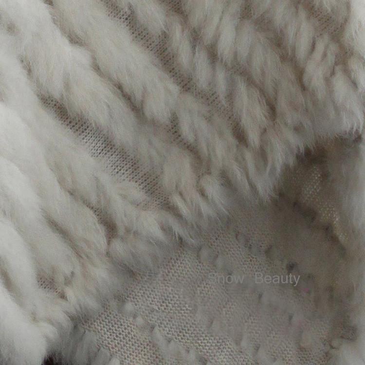 natural real knitted rabbit fur poncho shawl (37)