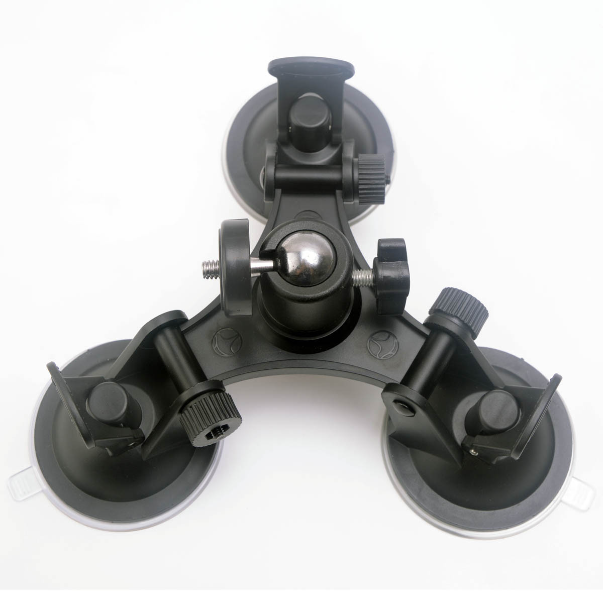 F15595 3x Suckers Fixation Low Angle Removable Suction Cup Tripod Mount for Surfboard Car for GOPRO HERO3/3+/4/5 Camera DV