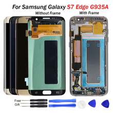 s7 edge display For Samsung S7 edge LCD G935 G935F Display LCD Screen Touch Digitizer Assembly free tools parts display s7 edge цена и фото