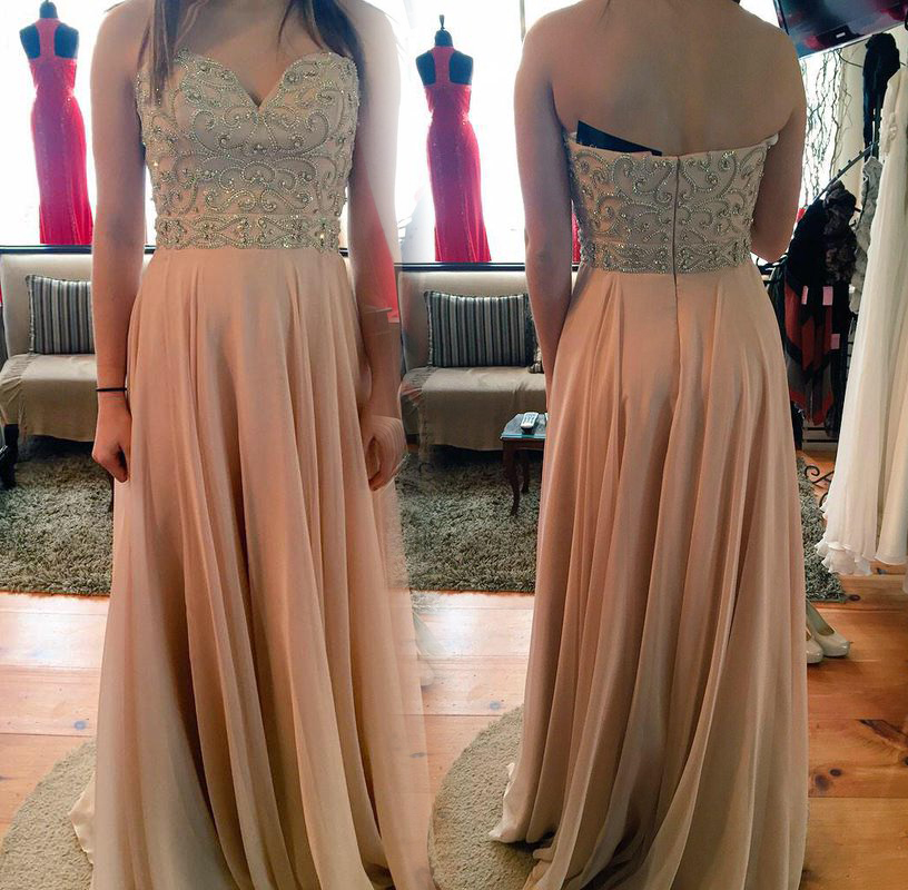 Prom-Dresses Chiffon Beading Robe-De-Soiree Sweetheart The-Shoulder Floor-Length A-Line