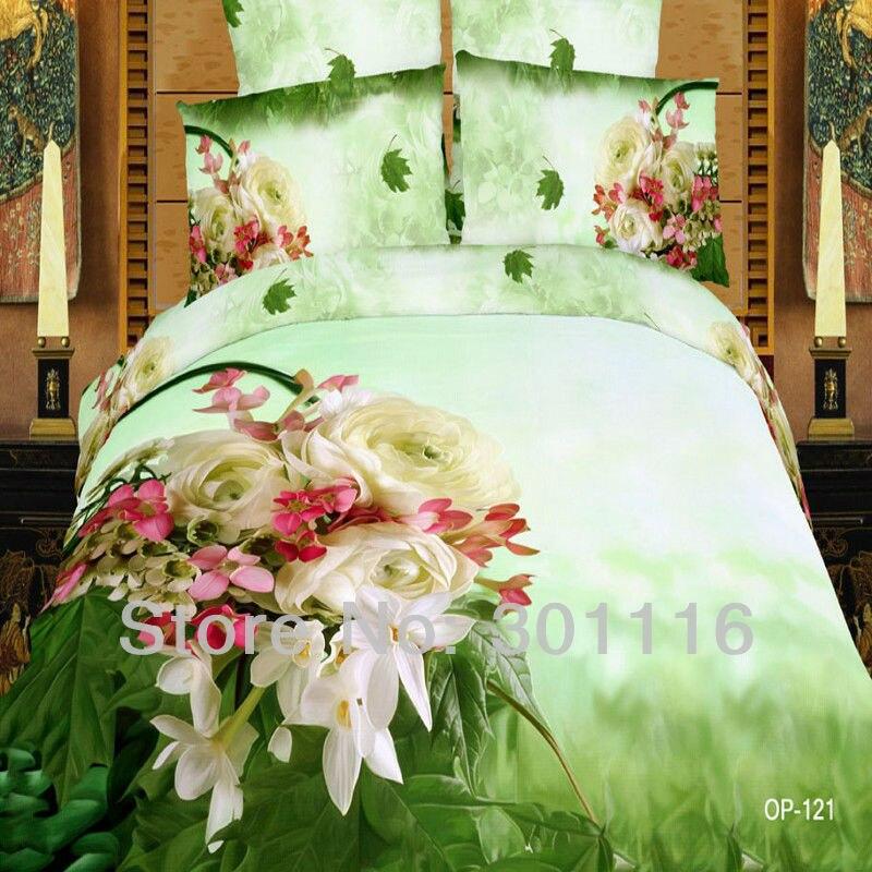 Hd Printed Natural Design High Quality Cotton Bedding Set