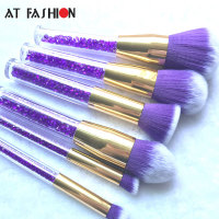 New 6pcs Diamond Makeup Brushes Crystal Handle Powder Eyeshadow Foundation Brush Women Cosmetics Professional Make Up