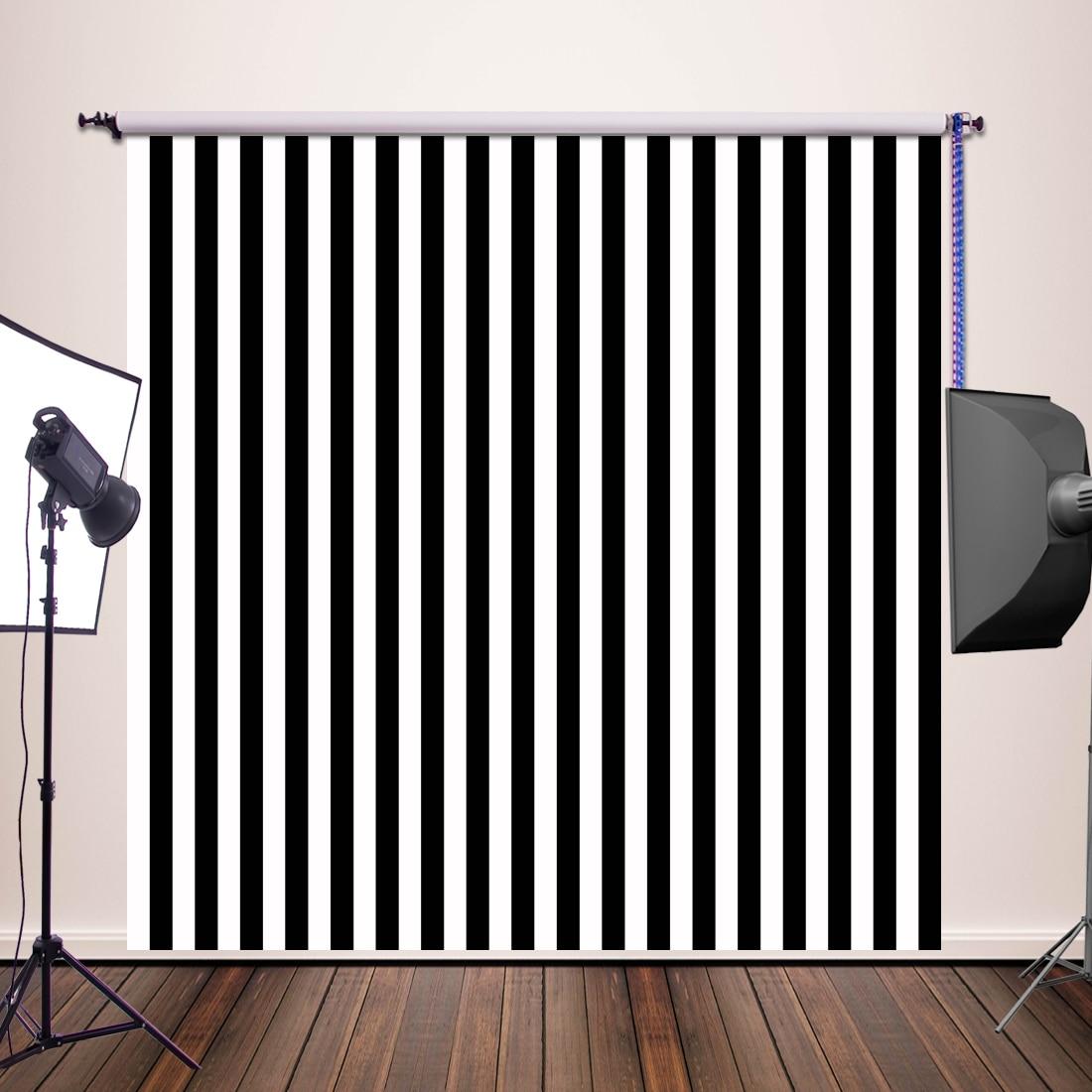 HUAYI 250x250cm Photography Background backdrop printed black and white stripes photo studio newborn backdrop XT 3595
