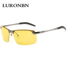 Luronbn 2017 Polarized Night Vision Sunglasses Men's Glasses Anti-Glare Polarizer Goggles glasses men driver Driving Sun glasses