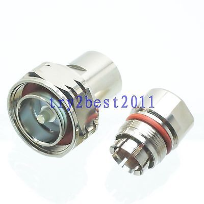 цена на 1pce Connector 7/16 DIN plug pin clamp 1/2 corrugated cable RF COAXIAL straight