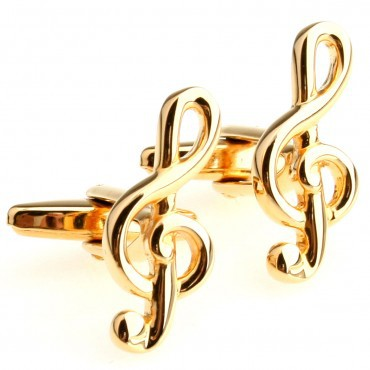 Gold Music Note Cufflink 15 Pairs Free Shipping