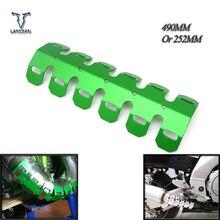 עפר אופני עמעם פליטת צינור רגל התרסקות מגן חום חומת כיסוי עבור Yamaha YZ 125 TTR600 XT250X TRICKER DT230 LANZA YFZ450