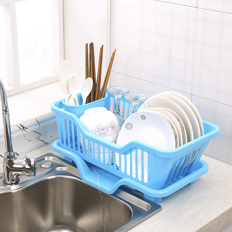 2017 New Creative Dishes Racks Sink Drain Plastic Filter Plate Storage Rack Kitchen Utensils Shelving Draining