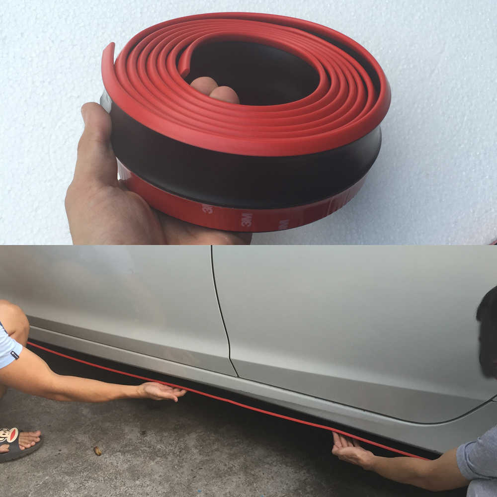 A3 A4 B8 A5 A6 A7 A8 TT Rubber Car Styling Body Kit ,Front Bumper Lip Spoiler ,Side Skirt, for Audi Any Car 250CM