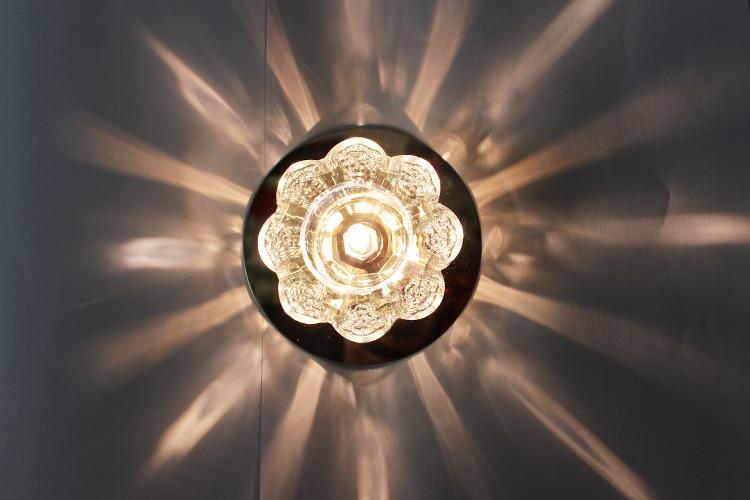 T LED Crystal Ceiling Light Rose Flower E14 Bulbs Corridor Aisle Bedroom Bathroom Lamps Wall Hot