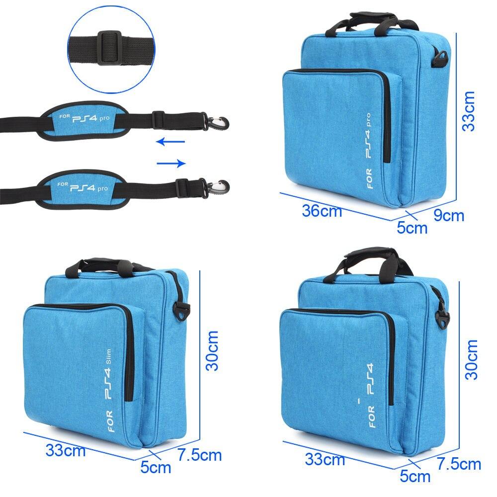 For PS4 / PS4 Pro/ PS4 Slim Game Sytem Bag For PlayStation 4 Console Protect Shoulder Carry Bag Handbag Protective Canvas Case