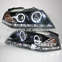 For VW for Skoda Octavia LED Headlamp Angel Eyes 2007 2009