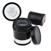 10x Magnification 25mm Magnifier Loupe Interchangeable Reticle 0 20mm Scale Jewelry Jeweller Tools with LED Light
