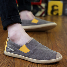 Canvas Shoes Men Flat Breathable Casual 2019 Spring Male Loafers Fashion Brand Cloth KA1073