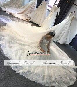 Image 4 - 2019 robe de soiree düğün elbisesi amanda novias Shinning Modeli Yeni