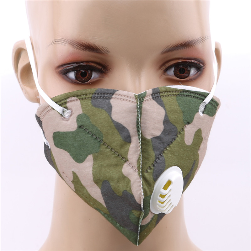 Non-woven anti-fog Filter Daily Use Antivirus Dust Anti Fog Haze New Air Pollution Vertical Folding Safe Masks PM2.5 Face Masks image