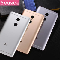 Original Phone Housing For Xiaomi Redmi Note4 Case Replacement Parts Metal Back Battery Cover For Redmi