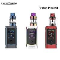 Original Innokin Proton Plex Kit Box Mod 235W with PLEX Tank 4ML Plexus Scion Coil Electronic Cigarette Vaporizer Vape Kit