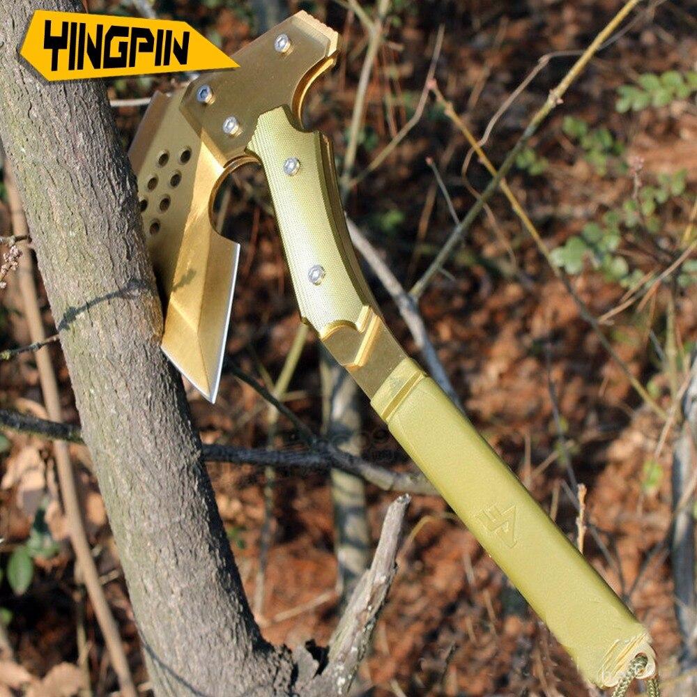 Werkzeuge Goldene Rose Axt Cf Kreuzung Die Feuer Linie Vierte Generation Axt Multifunktionale Feuer-kampf Axt Montiert Fahrzeug Verteidigung Up-To-Date-Styling Axt