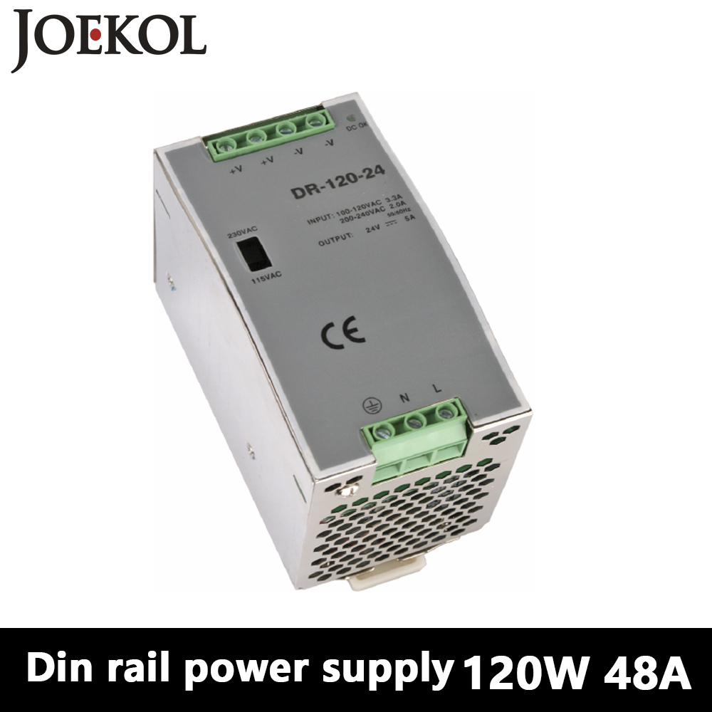 DR-120 Din Rail Power Supply 120W 48V 2.5A,Switching Power Supply AC 110v/220v Transformer To DC 48v,ac dc converter dr 240 din rail power supply 240w 48v 5a switching power supply ac 110v 220v transformer to dc 48v ac dc converter