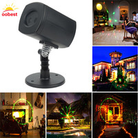 Oobest Christmas Decoration Laser Fairy Light Projection Galaxy LED Shower Outdoor Landscape Garden Stage Spotlight For