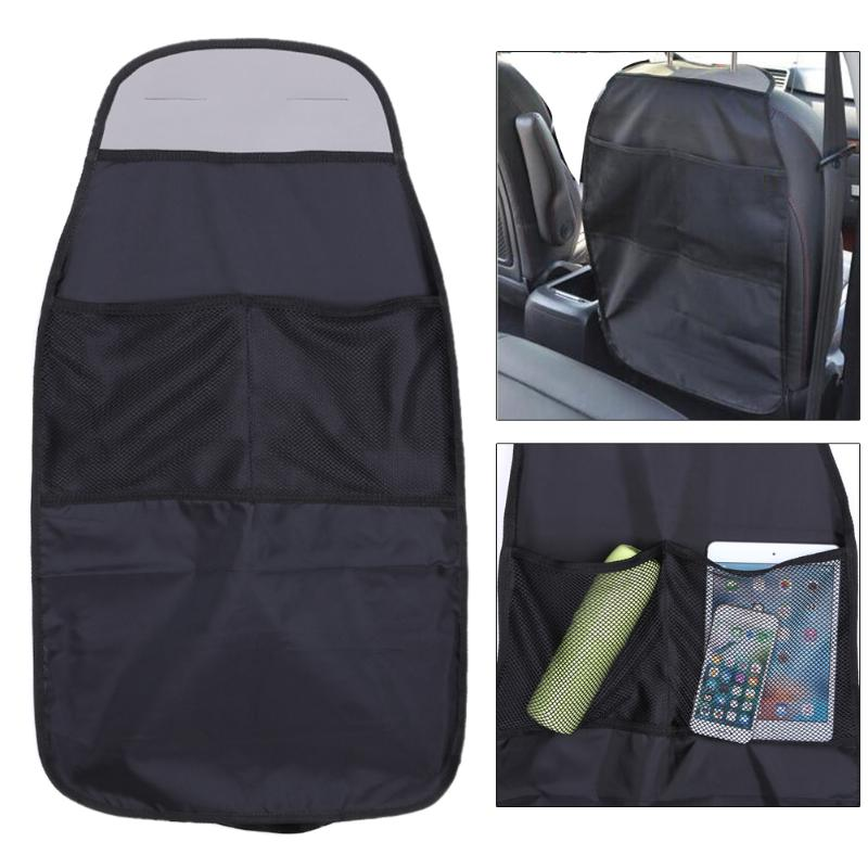 Waterproof Universal Auto Seat Back Organizer Storage Bag Car Seat Back Scuff Dirt Protect Cover For Child Baby Kid kick Mat Pad(China)