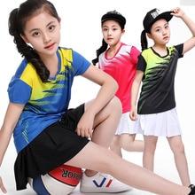 Tenis masculino для девочек Детская рубашка для настольного тенниса юбки для волейбола и настольного тенниса Детская рубашка для бадминтона+ шорты, теннисные костюмы, одежда