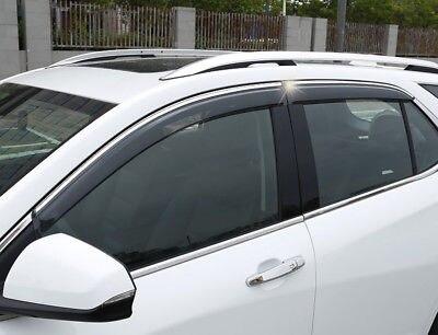 Window Visor Vent Shades Sun Rain Guard For Chevrolet Holden Equinox 2018 2019