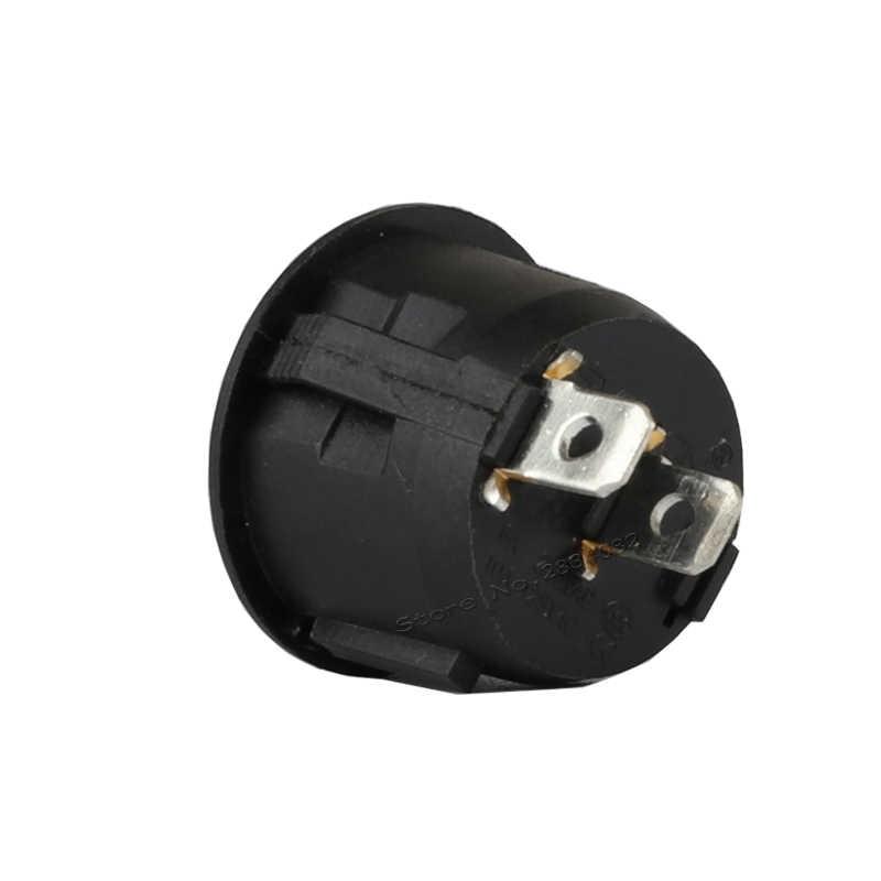 2ピン6a/250vac 10a/125vac spdtロッカーボートスイッチ2位置2ファイル上オフラウンドラッチロック電源スイッチ銅ピン