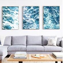Северный океан волна настенная живопись холст Пейзаж плакаты